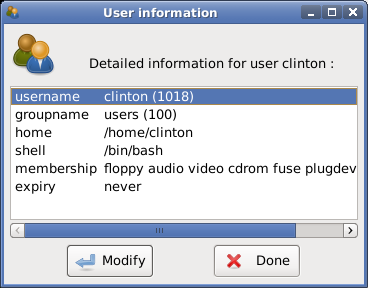 User Information Summary